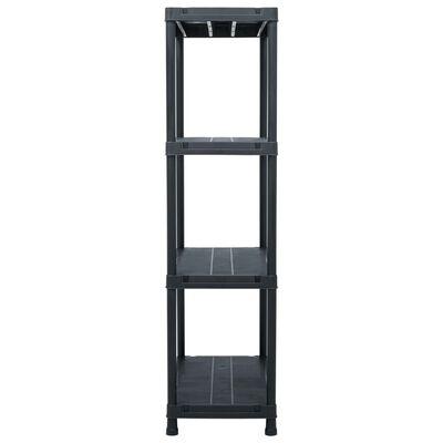 vidaXL Rafturi de depozitare, 2 buc. negru, 60 x 30 x 138 cm plastic