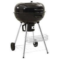 vidaXL Grătar barbecue pe cărbuni cu recipient, 73x58x96 cm, oțel