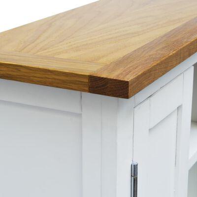 vidaXL Dulap dispozitive media, 50 x 22 x 122 cm, lemn masiv de stejar