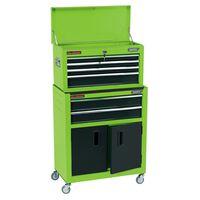 Draper Tools Dulap combinat role & dulap unelte, verde, 61,6x33x99,8 cm