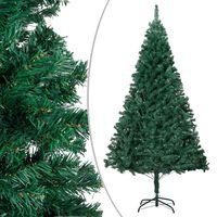 vidaXL Pom de Crăciun artificial cu ramuri groase, verde, 180 cm, PVC
