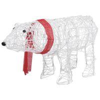 vidaXL Decorațiune de Crăciun urs, 45 leduri, 71 x 20 x 38 cm, acrilic