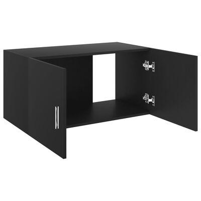 vidaXL Dulap montat pe perete, negru, 80x39x40 cm, PAL