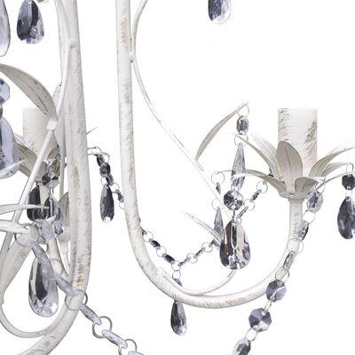 vidaXL Candelabre suspendate de plafon cu cristale 2 buc. alb elegant