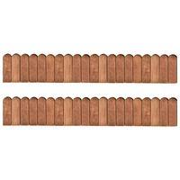 vidaXL Role de bordură, 2 buc., 120 cm, lemn de pin tratat
