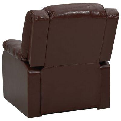 vidaXL Set canapea rabatabilă, 2 piese, maro, piele ecologică