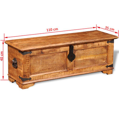 vidaXL Cufăr de depozitare din lemn de mango nefinisat