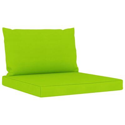 vidaXL Set mobilier de grădină cu perne verde aprins, 11 piese