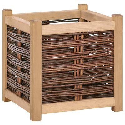 vidaXL Strat înălțat de grădină, 40 x 40 x 40 cm, lemn masiv de pin
