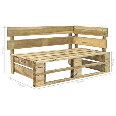 vidaXL Bancă de colț pentru grădină din paleți, lemn