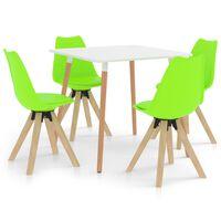 vidaXL Set mobilier de bucătărie, 5 piese, verde
