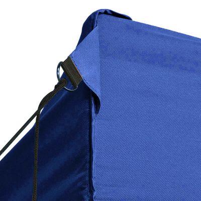 vidaXL Cort pliabil cu 3 pereți, 3 x 4,5 m, albastru