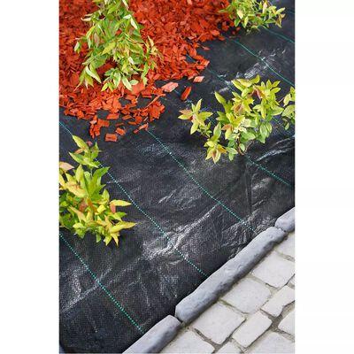 Nature Folie antiburuieni pentru sol, negru, 3,3 x 5 m