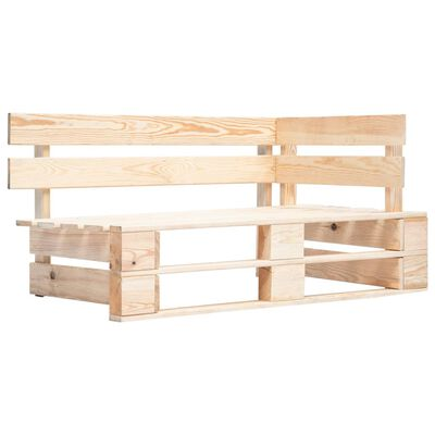 vidaXL Bancă de colț din paleți de grădină, lemn