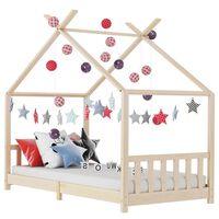 vidaXL Cadru de pat pentru copii, 80 x 160 cm, lemn masiv de pin