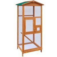 vidaXL Cușcă de păsări din lemn, 65 x 63 x 165 cm