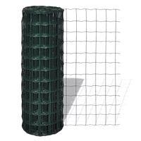 vidaXL Euro gard, verde, 10 x 1,5 m, oțel