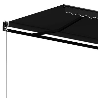 vidaXL Copertină retractabilă manual, antracit, 400x350 cm