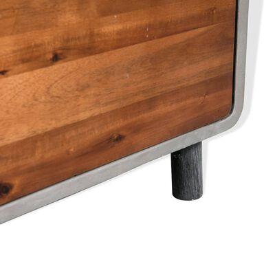 vidaXL Noptieră Beton și Lemn masiv de salcâm 40x30x50 cm