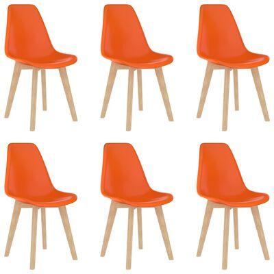 vidaXL Set mobilier de bucătărie, 7 piese, portocaliu