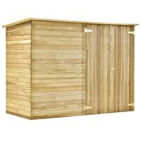 vidaXL Magazie unelte de grădină, 232x110x170 cm, lemn pin tratat