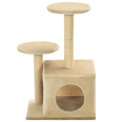 vidaXL Ansamblu pisici cu stâlpi din funie de sisal, 60 cm, bej