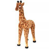 vidaXL Jucărie de pluș Girafă XXL Maro și galben