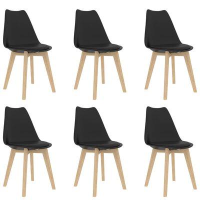 vidaXL Set de masă, 7 piese, negru