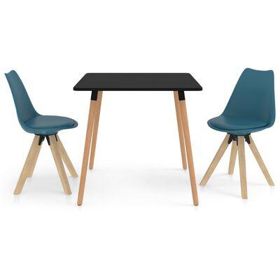 vidaXL Set mobilier de bucătărie, 3 piese, turcoaz
