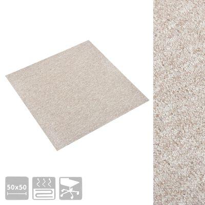 vidaXL Plăci de pardoseală, 20 buc., bej deschis, 50 x 50 cm, 5 m²