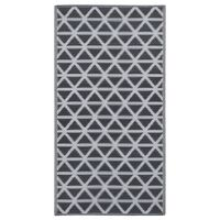 vidaXL Covor de exterior, negru, 120x180 cm, PP