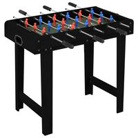 vidaXL Mini masă de fotbal, negru, 69 x 37 x 62 cm