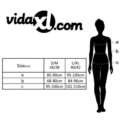 vidaXL Set de lenjerie sexy, 2 piese, rochie și bikini , mărime L/XL