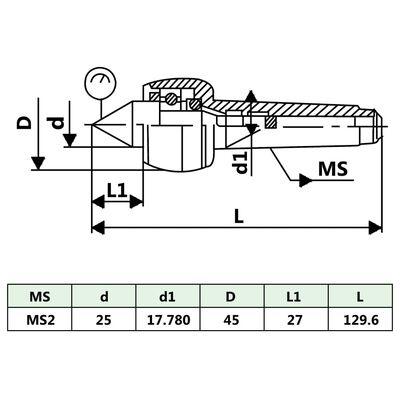 vidaXL Centru strung rotativ MT2