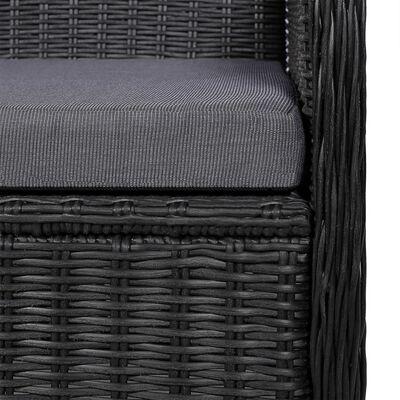 vidaXL Set mobilier pentru grădină, 7 piese, negru