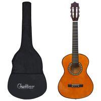 """vidaXL Set de chitară clasică copii și începători, 8 piese, 1/2 34"""""""