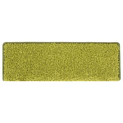 vidaXL Covorașe trepte de scară, 15 buc., verde, 65 x 25 cm
