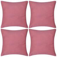 Huse de pernă din bumbac, 40 x 40 cm, roz, 4 buc.