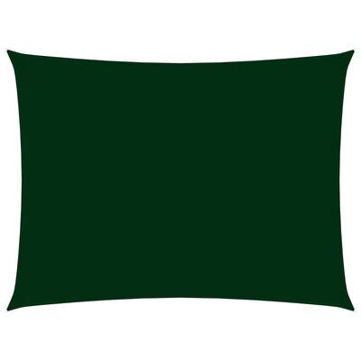 vidaXL Parasolar, verde închis, 6x8 m, țesătură oxford, dreptunghiular