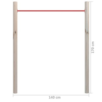 vidaXL Bară de gimnastică de grădină, 140x170 cm, lemn pin tratat&oțel