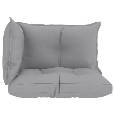 vidaXL Perne pentru canapea din paleți 3 buc. gri, material textil