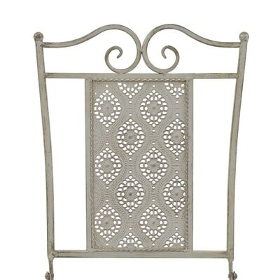 vidaXL Set mobilier bistro, 3 piese, gri, oțel