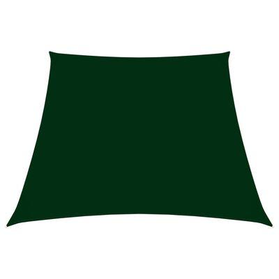 vidaXL Parasolar, verde închis, 4/5x4 m, țesătură oxford, trapez