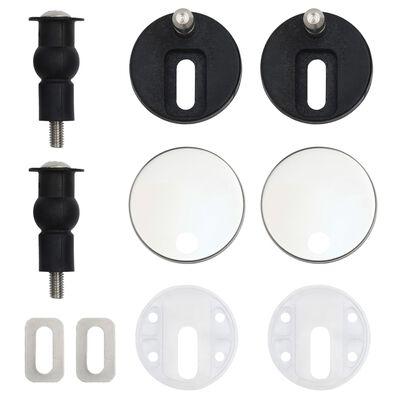 vidaXL Scaune WC, capac silențios, 2 buc., MDF, model pinguini