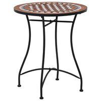 vidaXL Masă de bistro mozaic, maro, 60 cm, ceramică