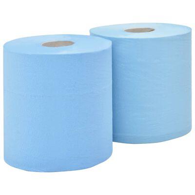 vidaXL Prosoape de hârtie de uz industrial, 3 straturi, 2 role, 38 cm