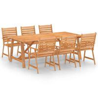 vidaXL Set mobilier de grădină, 7 piese, lemn masiv de acacia