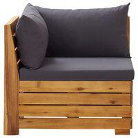 vidaXL Canapea de colț modulară cu perne, 1 buc., lemn masiv de acacia