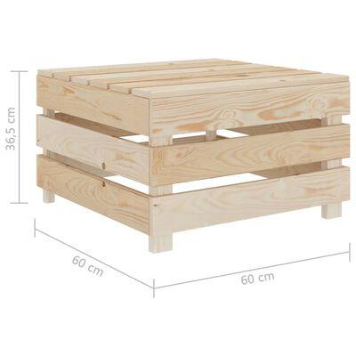 vidaXL Mese din paleți de grădină, 2 buc., lemn