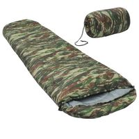 vidaXL Sac de dormit ușor pentru copii tip mumie camuflaj, 670 g, 10°C